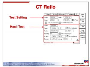 Testing CT dan VT   Engineering & System